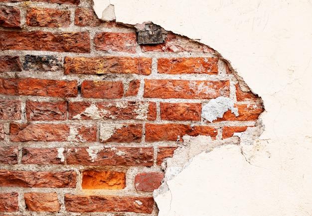 Bakstenen cementmuur als achtergrond