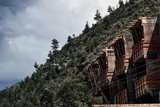 Bakstenen gebouwen in swat