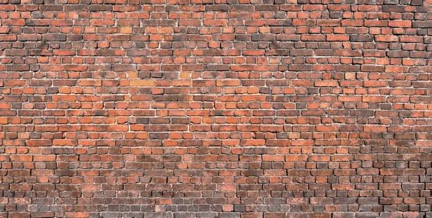 Bakstenen muur achtergrond, grunge textuur metselwerk oud huis