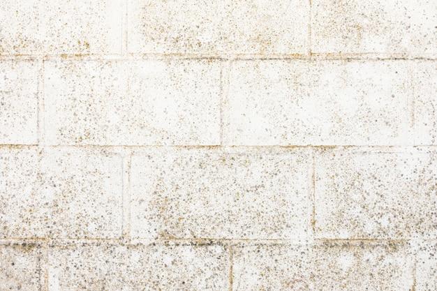 Bakstenen muur met ruwe uitstraling