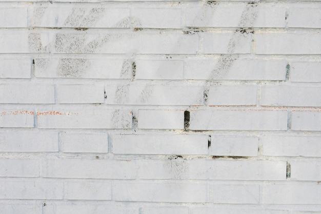Bakstenen muur met verf