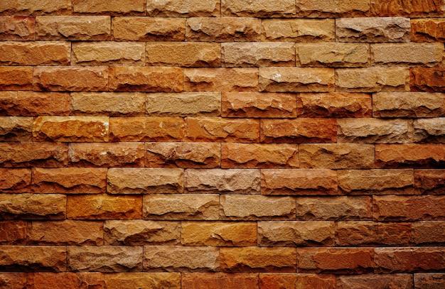 Bakstenen muur van rode kleur