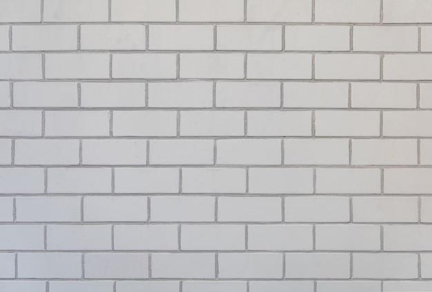 Bakstenen muur van witte kleurenachtergrond en textuur.