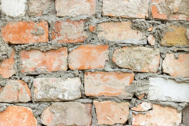 Bakstenen muurtextuur grunge stedelijke straatachtergrond