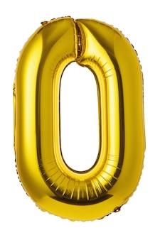 Bal in de vorm van een cijfer nul, geïsoleerd op een witte achtergrond