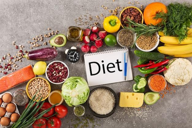 Balanceren van voedsel bij het plannen van een dieet.