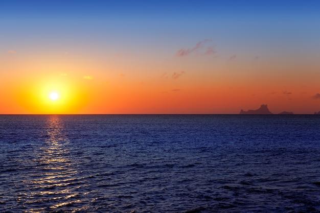 Baleaarse zonsondergang vanaf la savina in formentera