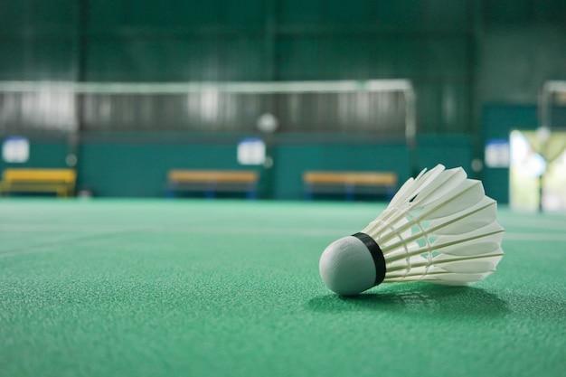 Ball badminton bevindt zich in het speelgebied.