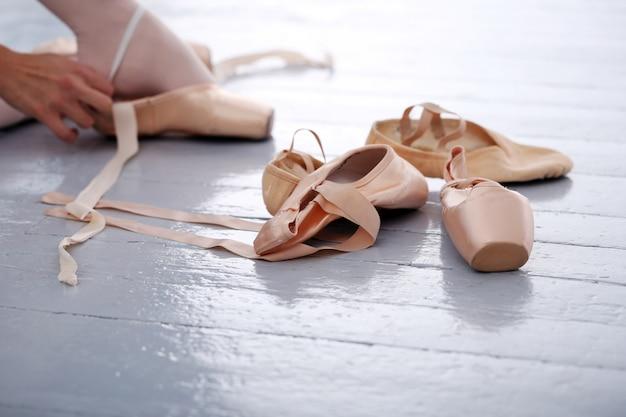 Ballerina's slippers