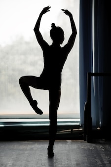 Ballerina silhouet dansen