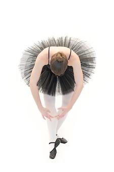 Balletdanser poseren op witte achtergrond