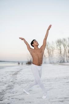 Balletdanser uitvoeren