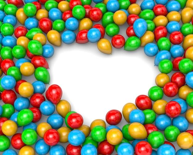 Ballonnen hart frame vorm
