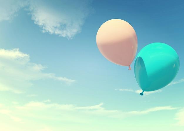 Ballonnen zwevend in de lucht