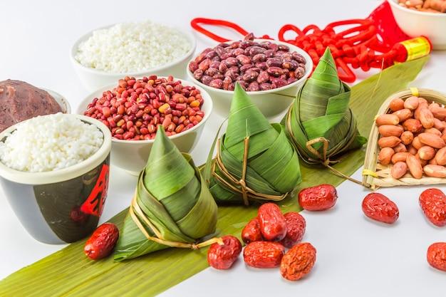 Bamboe gebonden studio snacks festival rijst