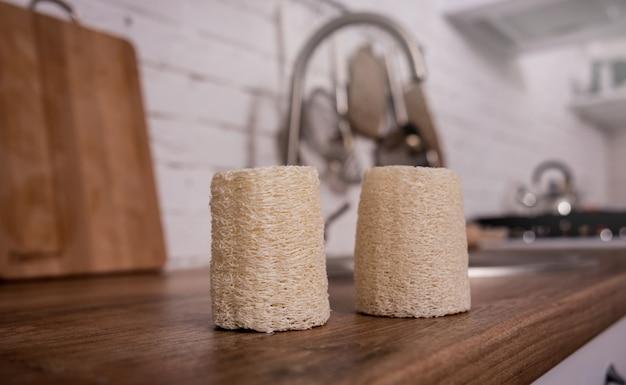 Bamboe natuurlijke eco washandjes. geen afvalconcept.