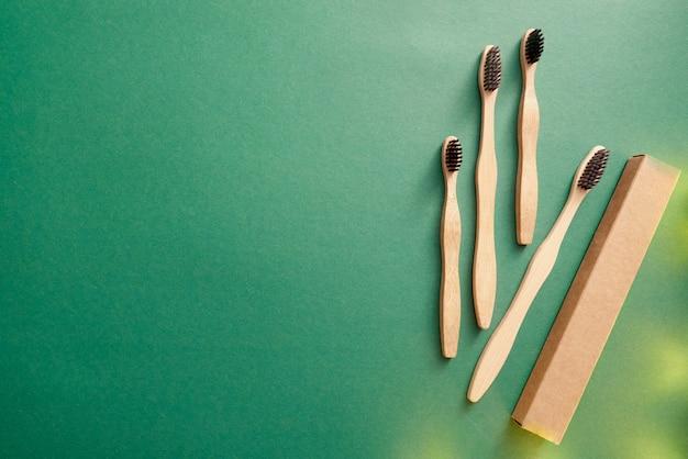 Bamboe tandenborstel met kartonnen verpakking