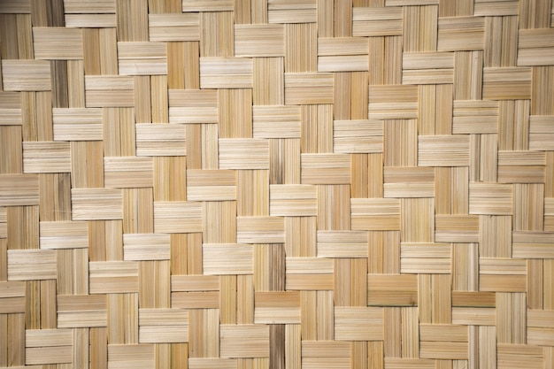 Bamboe weven handgemaakte patroon textuur achtergrond.