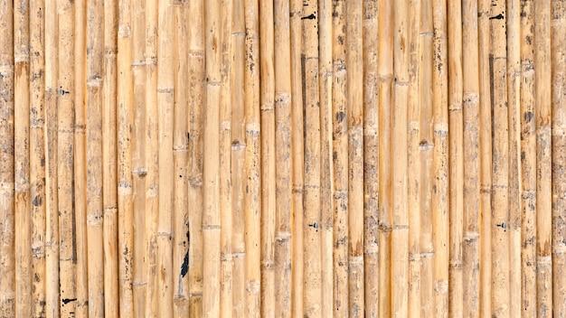 Bamboeomheining of de achtergrond van de muurtextuur