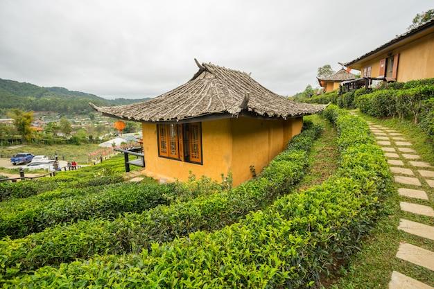 Ban rak thai, een chinese nederzetting in de provincie mae hong son, noord-thailand