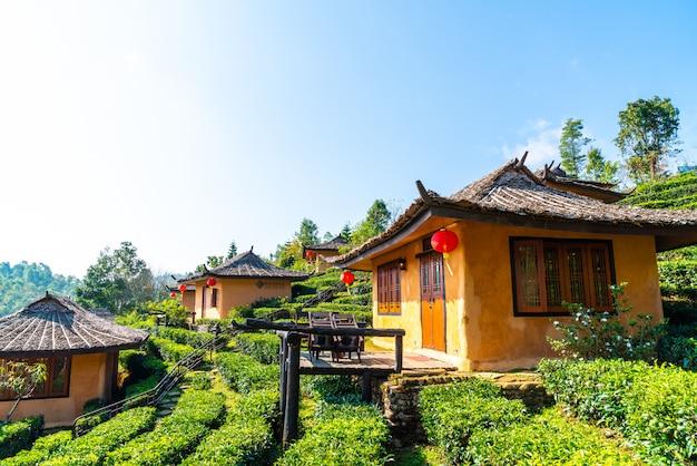 Ban rak thai, een chinese nederzetting in mae hong son, thailand.