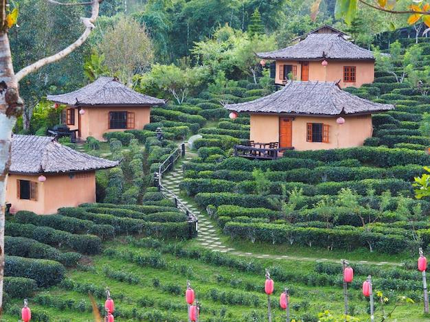 Ban rak thai village, een chinese nederzetting in de provincie mae hong son, noordelijk van thailand