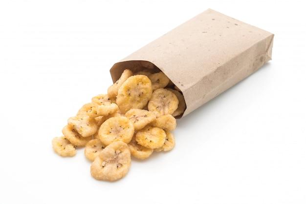 Banaan knapperige chips