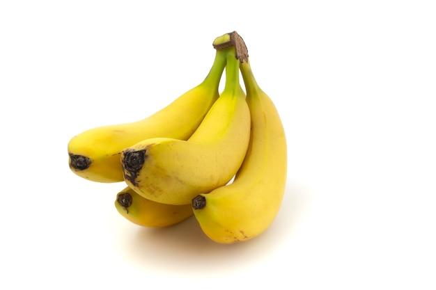 Bananen geïsoleerd op een witte achtergrond. verse heerlijke vruchten.