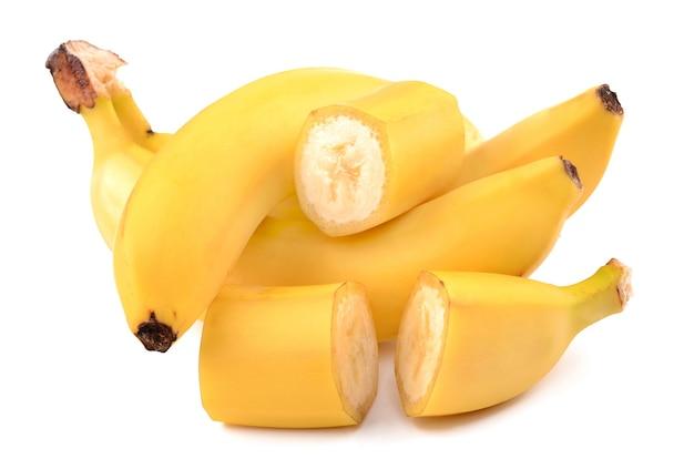 Bananen geïsoleerd op wit
