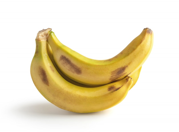Bananen geïsoleerd van een witte achtergrond
