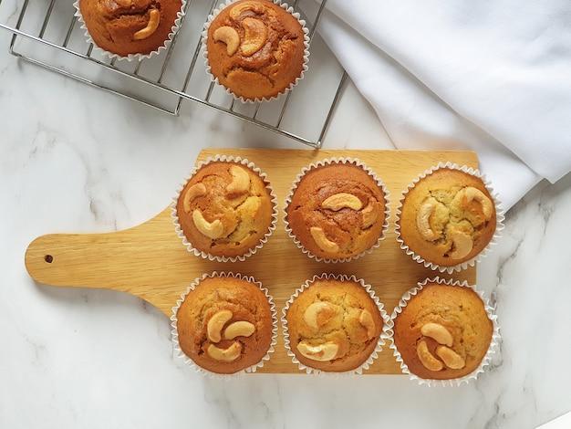 Bananen muffin cupcakes zelfgemaakte bakkerij