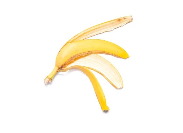 Bananenschil geïsoleerd