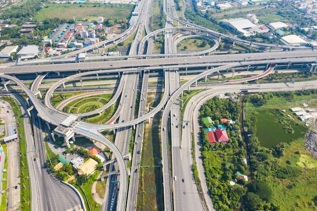 Bangkok expressway bovenaanzicht, bovenaanzicht