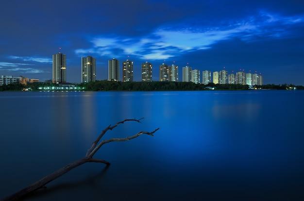 Bangkok nacht uitzicht