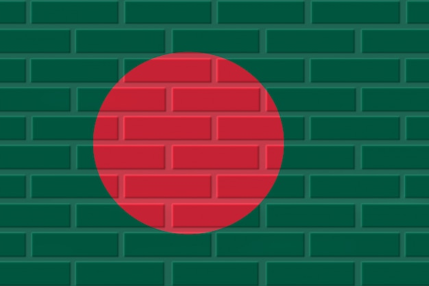 Bangladesh baksteen vlag illustratie