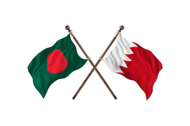 Bangladesh versus bahrein vlaggen achtergrond