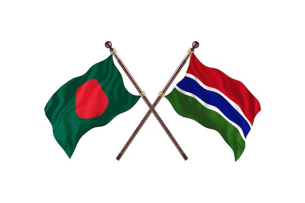 Bangladesh versus gambia de vlaggenachtergrond