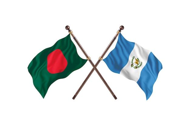 Bangladesh versus guatemala vlaggen achtergrond