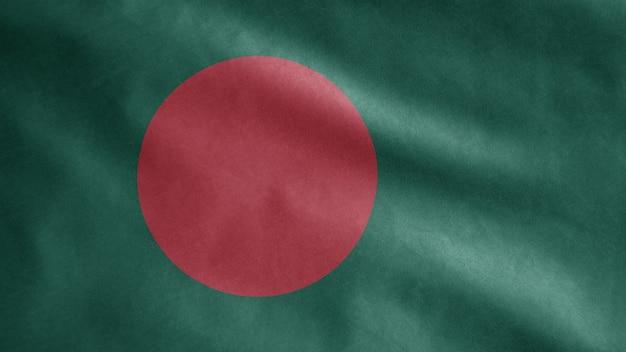 Bangladesh vlag wappert in de wind
