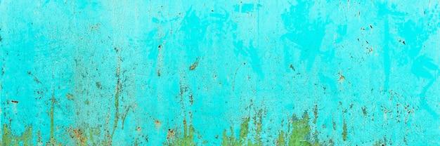 Banier. blauwe, turquoise oude houtstructuur achtergronden. ruwheid en scheuren.
