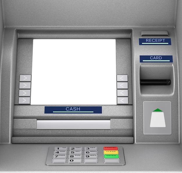 Bank cash atm machine extreme close-up. 3d-rendering