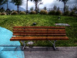 Bank in het park, reizen