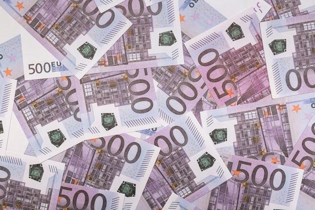 Bankbiljetten 500 euro abstracte achtergrond