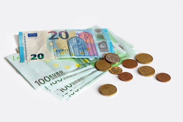 Bankbiljetten van 20 en 100 euro