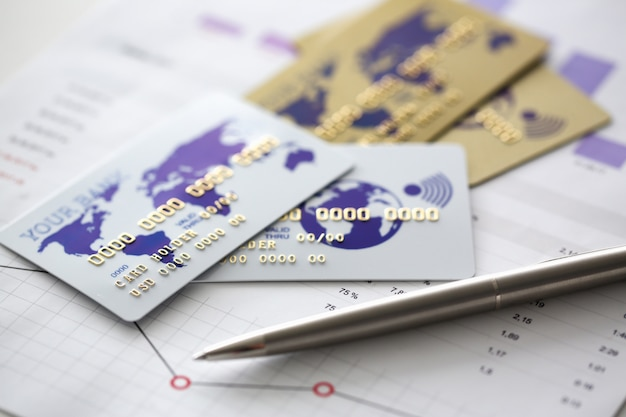 Bankenkaart staan in kaart met financiële statistiek