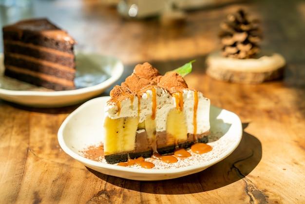Banoffee cake met karamel