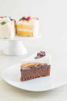 Banoffee cake op plaat