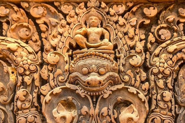 Banteay srei tempel in angkor wat in siem reap, cambodja