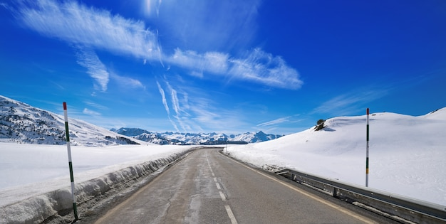 Baqueira beret in lerida catalonië ski-plek