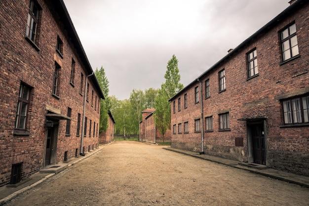 Barakken voor gevangenen, kamp auschwitz ii, polen